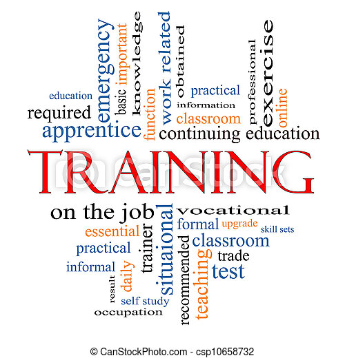 Training Word Cloud Concept - csp10658732
