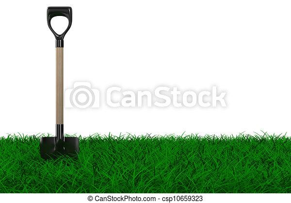 Clipart di pala erba giardino attrezzo isolato 3d for Giardino 3d gratis italiano