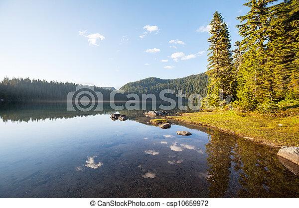 montagne, lago - csp10659972