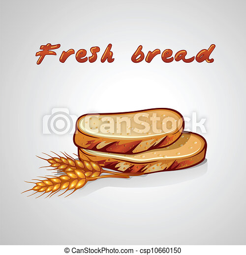 Bread Slice Drawing Vector Slice of Bread And