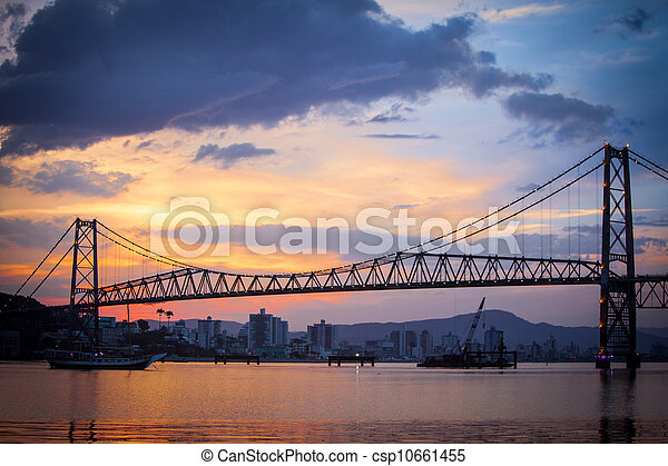 Bridge in Florianopolis at Sunset - csp10661455