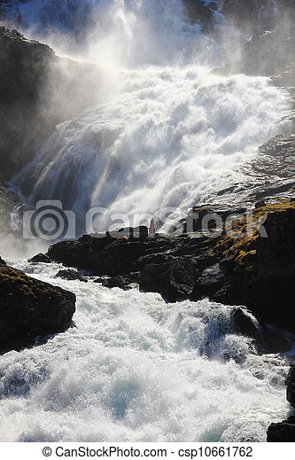 Waterfall in Norway - csp10661762