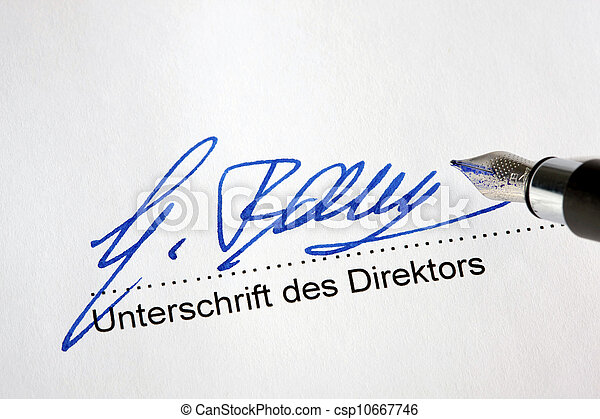 firma, funcionario, documento - csp10667746
