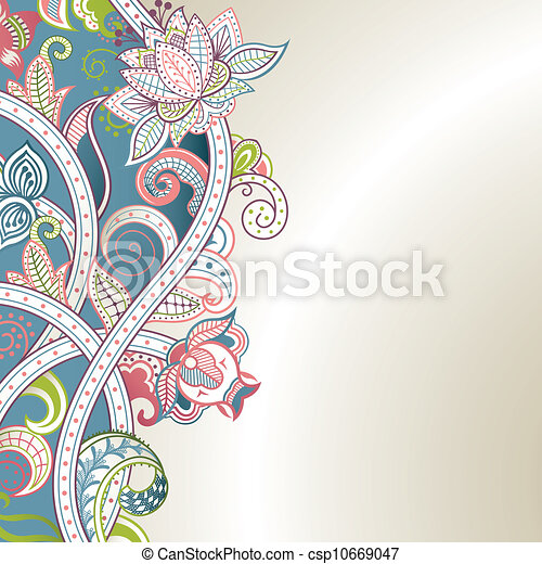 Floral Abstract - csp10669047