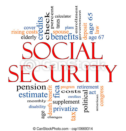Social Security Word Cloud Concept - csp10669314