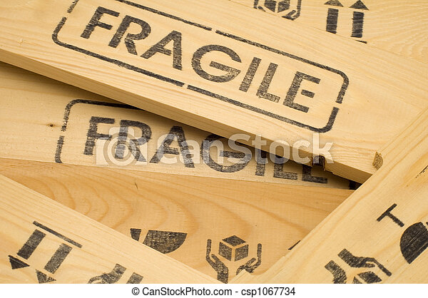 fragile sign close up - csp1067734