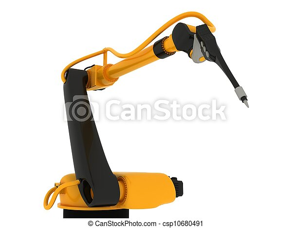 Industrial Robotic Arm Isolated - csp10680491