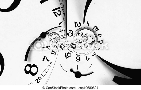 Digital generated twisted clock face.