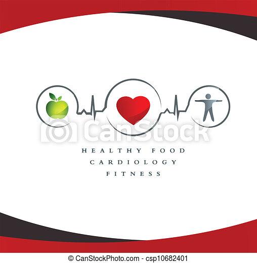 Healthy heart symbol - csp10682401