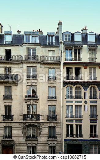 typical paris architecture - csp10682715
