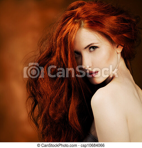 Red Hair. Fashion Girl Portrait  - csp10684066