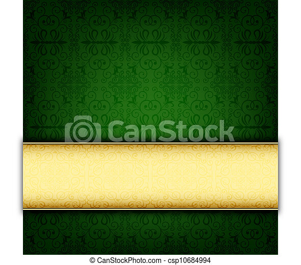 Green abstract celebration card - csp10684994