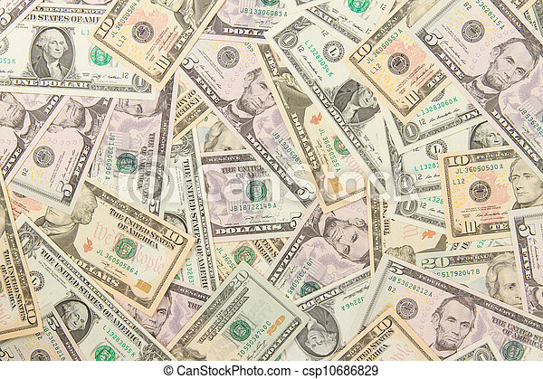 1, 5, 10 and 20 US Currency  - csp10686829