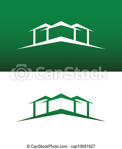 Vector Illustration of Abstract House Icon Vector Solid and ...