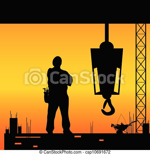 Construction Worker Hammer Silhouette Construction Worker Silhouette