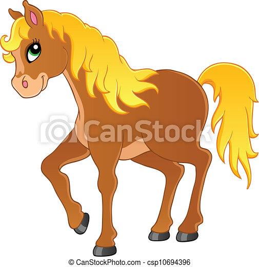 Horse theme image 1 - csp10694396
