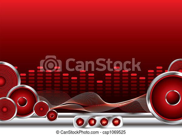 music sound - csp1069525