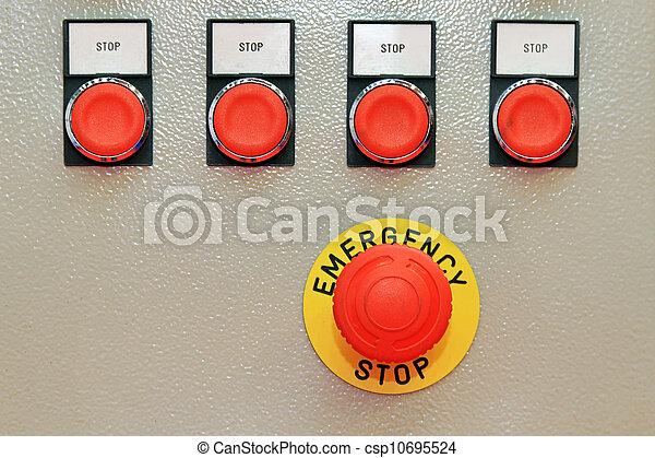 Emergency stop - csp10695524
