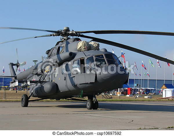 Mi-8 Russian military helicopter - csp10697592