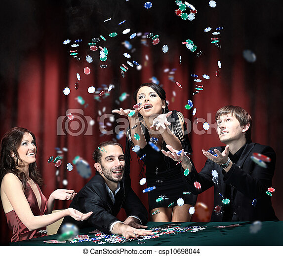 Young people have a good time in casino - csp10698044