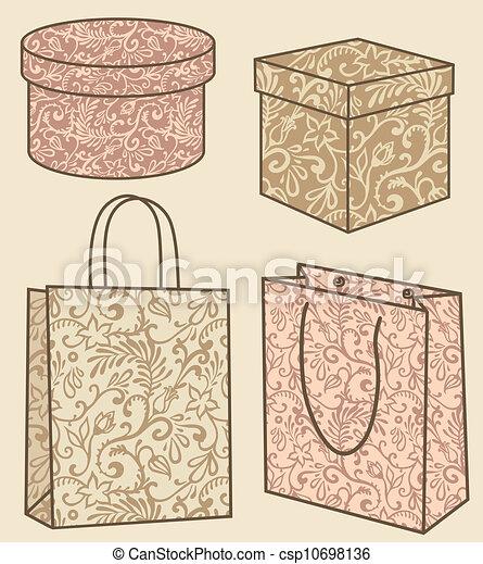 compra, caixas, jogo, sacolas - csp10698136