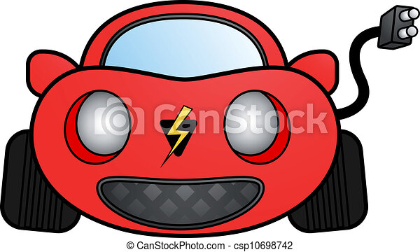 Eps Vector Of Red Electric Car Design Of Red Electric Car Draw