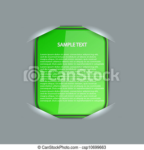 Vector blank with place for your text. Eps 10 - csp10699663
