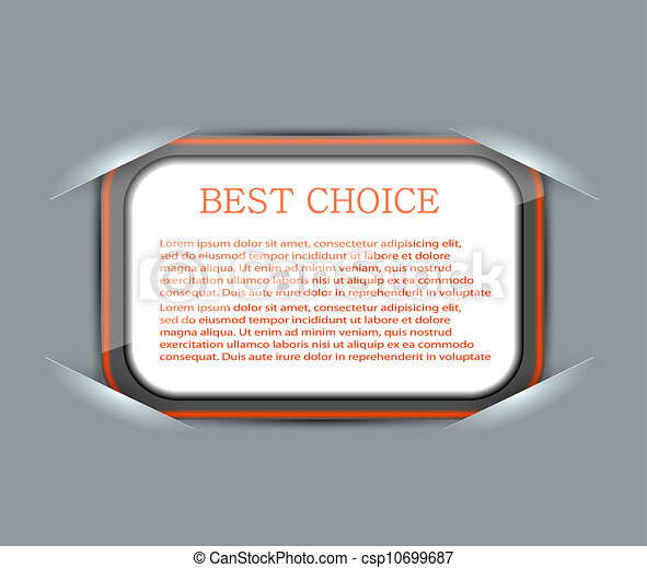 Vector blank with place for your text. Eps 10 - csp10699687