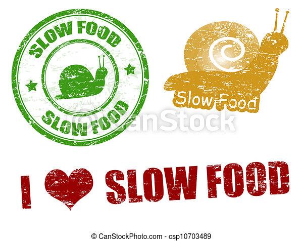 Slow food stamps - csp10703489