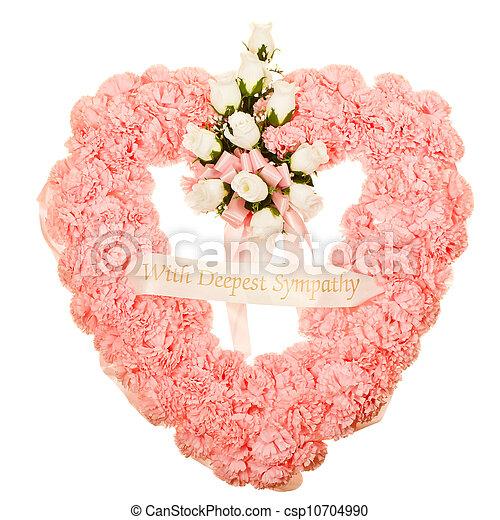 Silk funeral flower arrangement