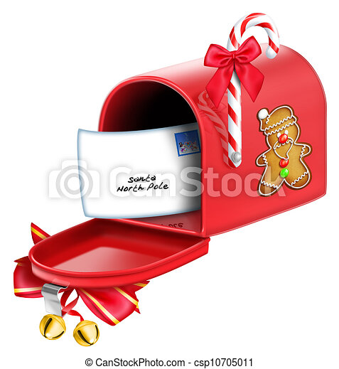 - Whimsical Christmas Mailbox - stock illustration, royalty free ...