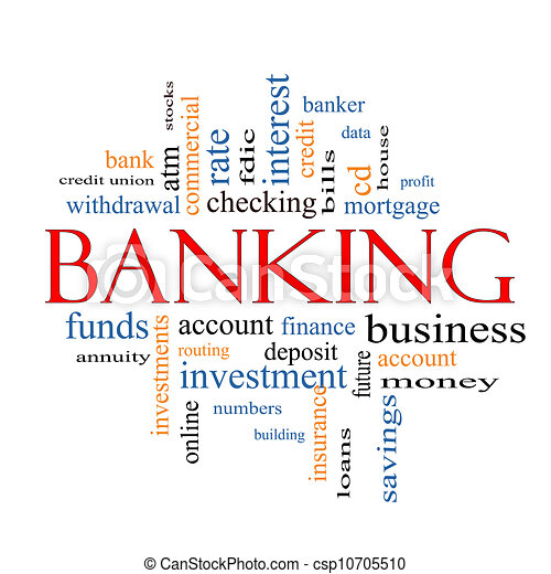 Banking Word Cloud Concept - csp10705510