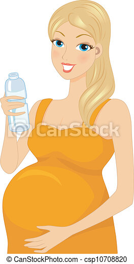 how to look pregnant by drinking water