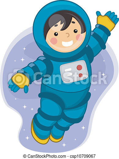Clip Art Vector Of Astronaut Boy Illustration Of A Young