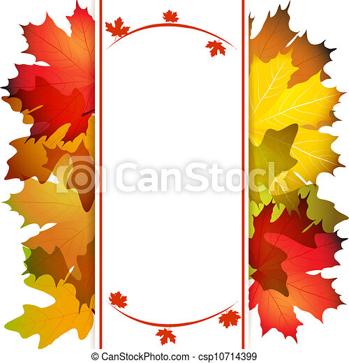 Fall leafs abstract background - csp10714399