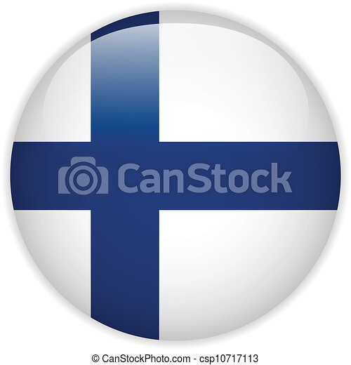 Finland Flag Glossy Button - csp10717113