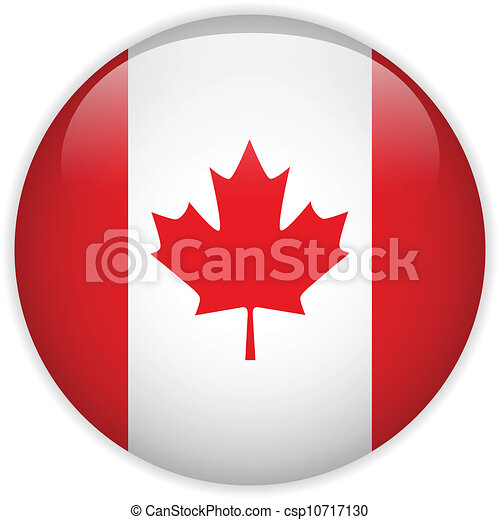 Canada Flag Glossy Button - csp10717130