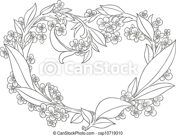 Decoration Flowers Drawings Flowers Drawing Ink