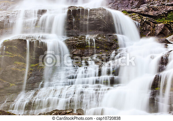 Waterfall in Norway - csp10720838