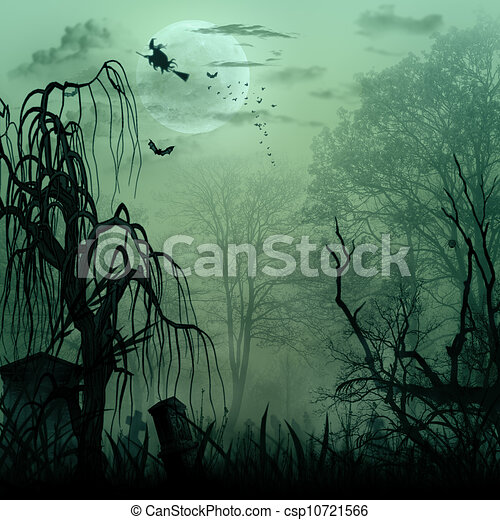 Abstract Halloween backgrounds with copy space for your design - csp10721566