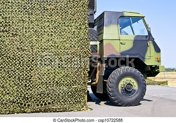 military vehicle hung camouflage - csp10722588