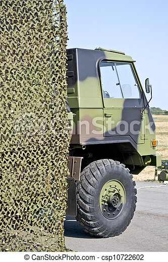 military vehicle hung camouflage - csp10722602