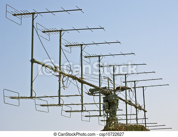 Military radar antenna for object's - csp10722627