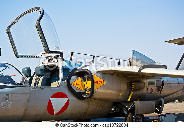 side view of military jet airplane - csp10722804