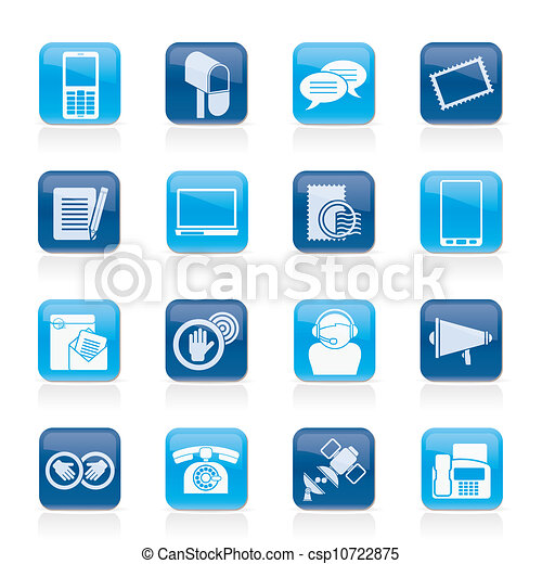 Contact and communication icons - csp10722875