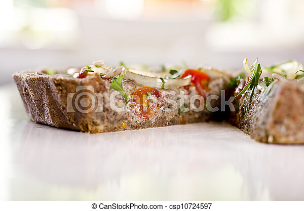 raw food quiche - csp10724597