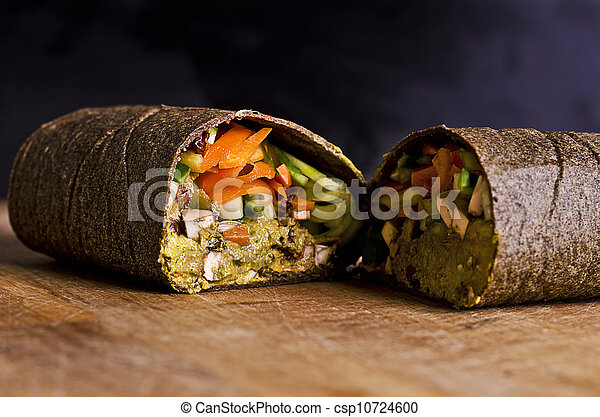 sliced raw food wrap - csp10724600