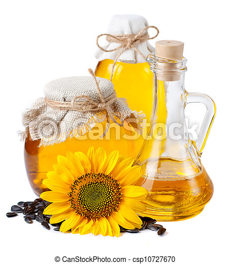 girasol, aceite, botellas - csp10727670