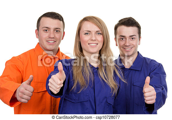 Thumbs up industrial group - csp10728077