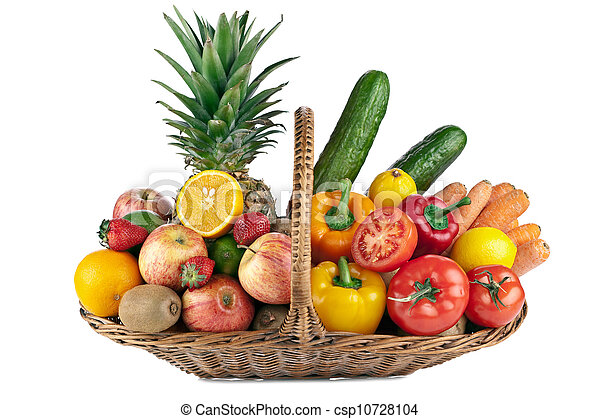 colorful fruit and vegetables  composition - csp10728104
